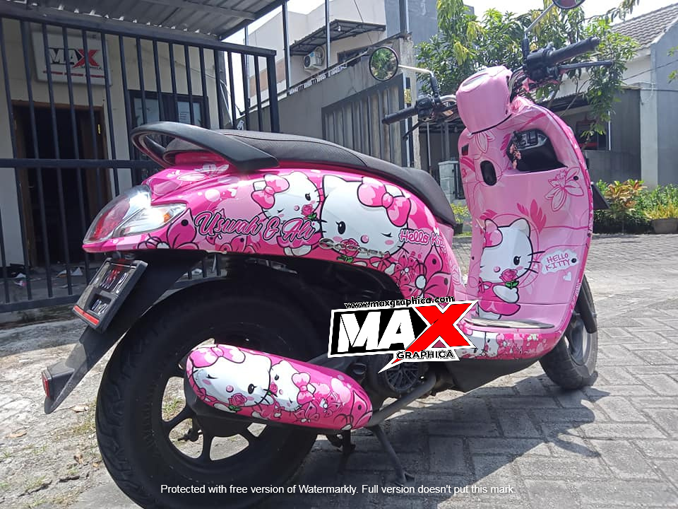 Scoopy modif stiker Maxgraphica Cutting Sticker Sidoarjo